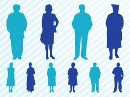 Elderly-people-silhouettes-set