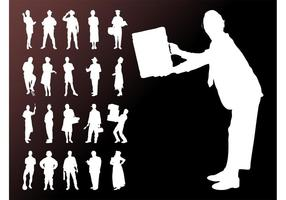 People-silhouettes-graphics-set