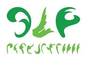 Silhuetas de folhas de plantas