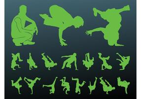 Breakdancer Silhouetten