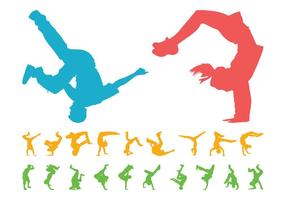 Ensemble de silhouettes Breakdancers