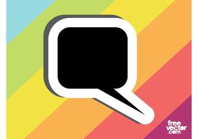 Speech Bubble Sticker Template