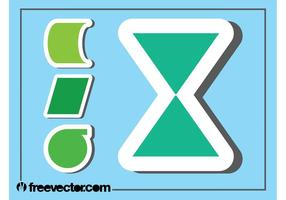 Geometric Stickers Graphics