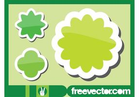 Green Flowers Stickers