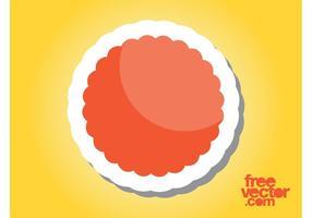 Orange Sticker Graphics