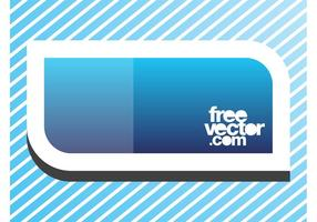 Blue Banner Sticker