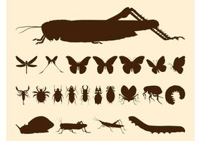 Insects Silhouette Set