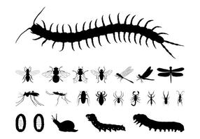 Insekter Silhouettes Set