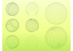 Esferas de wireframe 3d