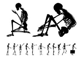 skeleton free vector art - (1916 free downloads), Skeleton