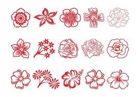 Conjunto de flor de flor
