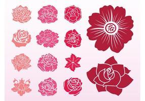 Blooming Flowers Set