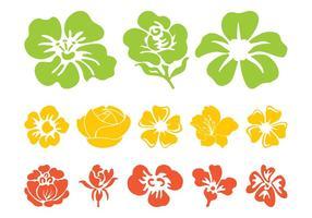 Färgglada blommablommor