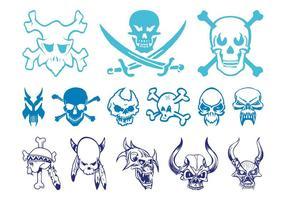 Ensemble de graphiques Skulls