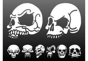 Skulls Vector Graphics Set