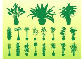 Potted Plants Silhouettes