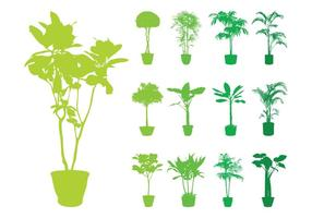 Potted-plants-silhouettes-set