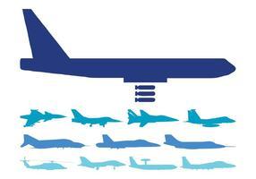 Conjunto de aeronaves militares