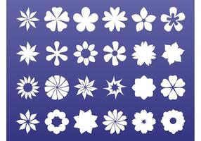 Bloemen iconen graphics