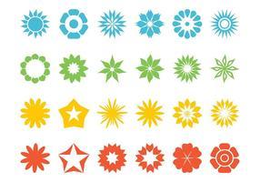 Conjunto De Flores Y Estrellas