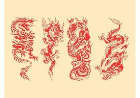 Drachen-Vektorgrafiken-Satz