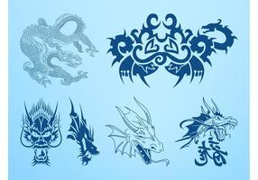 Dragones gráficos vectoriales