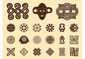 Ensemble de symboles africains