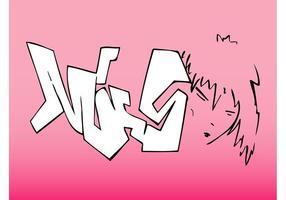 Mädchen Gesicht Graffiti