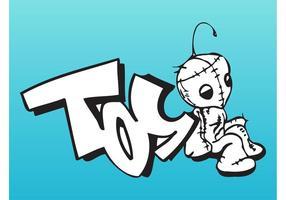 Peça de graffiti de brinquedo