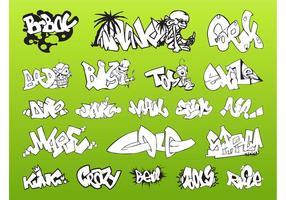 Pacote de peças de graffiti