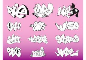 Graffiti-Stücke Vektor
