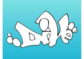 Tauchen Graffiti Stück