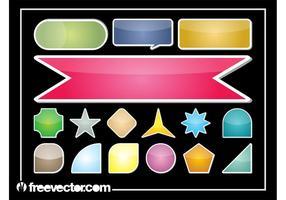 Färgrik klistermärkeuppsättning