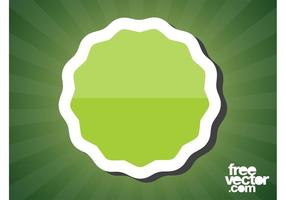 Vetor de etiqueta verde