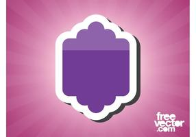 Purple Sticker Template