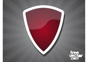 Red Shield Sticker
