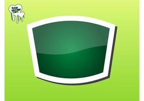 Graphique vert autocollant
