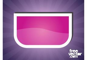 Diseño de etiqueta engomada rosada