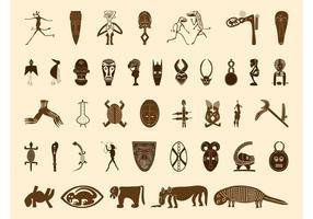 Afrikanische Symbole Grafiken