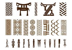 Conjunto de símbolo africano