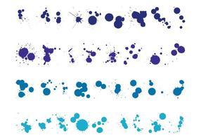 Gouttes de peinture bleues
