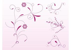 Roze Bloemenrollen Set