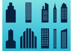 Estilizado rascacielos conjunto