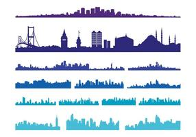 Grote skylines van de stad