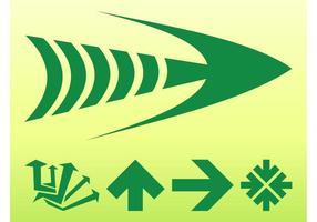 Graphiques des flèches vertes