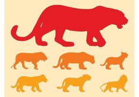 Gatos grandes Siluetas