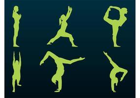 Flexibla människor silhuetter