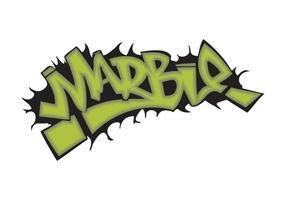 Marble Graffiti Piece