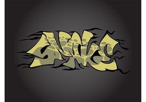 Snake Graffiti Piece