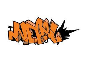 Explosions-Graffiti-Stück